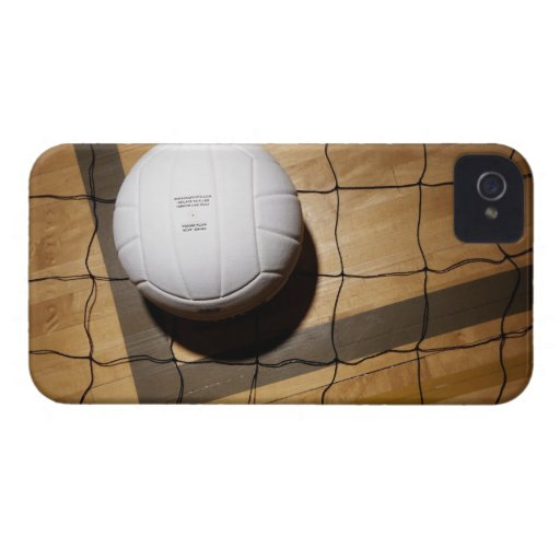 Volleyball and net on hardwood floor Case-Mate iPhone 4 cases