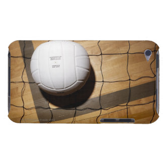 Volleyball and net on hardwood floor iPod touch covers