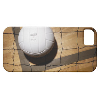 Volleyball and net on hardwood floor of iPhone 5 case