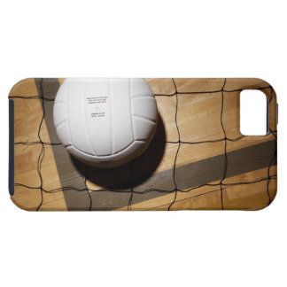 Volleyball and net on hardwood floor of iPhone 5 covers