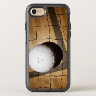 Volleyball and net on hardwood floor OtterBox symmetry iPhone 8/7 case