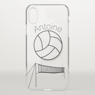 Volleyball And Net Personalized iPhone X Case