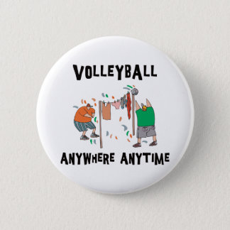 Volleyball AnyWhere Anytime 6 Cm Round Badge