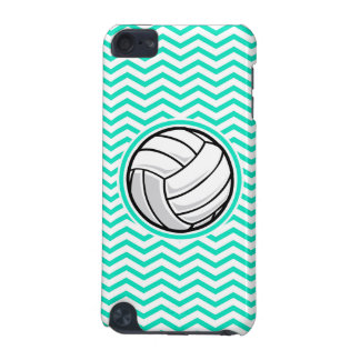 Volleyball Aqua Green Chevron iPod Touch (5th Generation) Cases