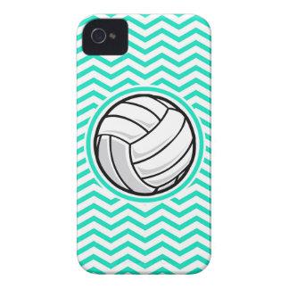 Volleyball Aqua Green Chevron iPhone 4 Case-Mate Case