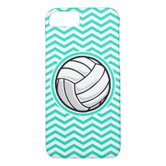 Volleyball; Aqua Green Chevron iPhone 7 Case