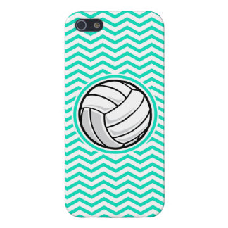 Volleyball Aqua Green Chevron Cover For iPhone 5/5S