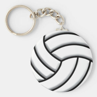 Volleyball Ball Basic Round Button Key Ring