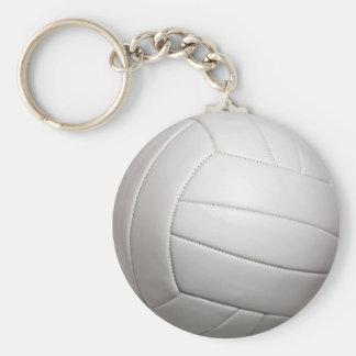 Volleyball Basic Button Keychain