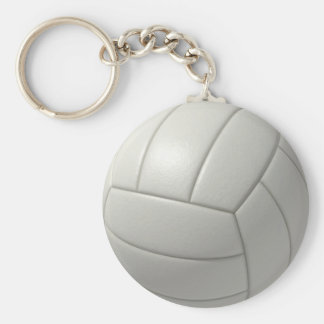 Volleyball Basic Round Button Key Ring