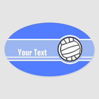 Volleyball; Blue Oval Sticker