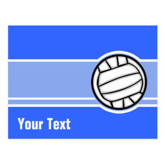 Volleyball; Blue Postcard