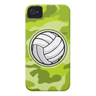 Volleyball bright green camo camouflage iPhone 4 Case-Mate case