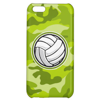Volleyball bright green camo camouflage case for iPhone 5C