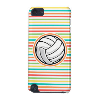 Volleyball Bright Rainbow Stripes iPod Touch 5G Case