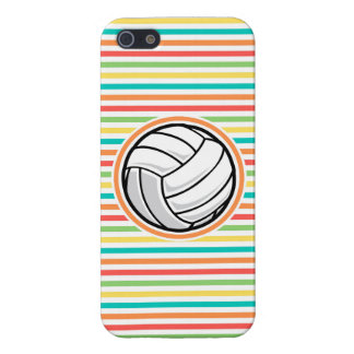 Volleyball Bright Rainbow Stripes iPhone 5 Covers