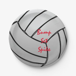 Volleyball Bump Set Spike 7 Inch Paper Plate