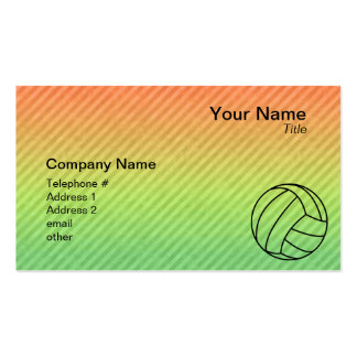 Volleyball; Pack Of Standard Business Cards