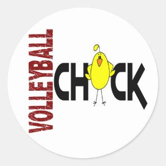 Volleyball Chick 1 Classic Round Sticker