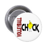Volleyball Chick 1 Pinback Buttons