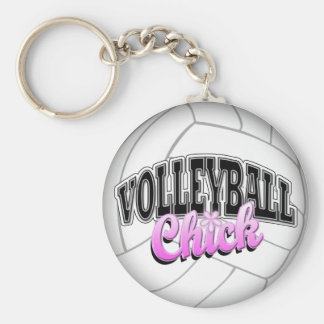 Volleyball Chick Keychain