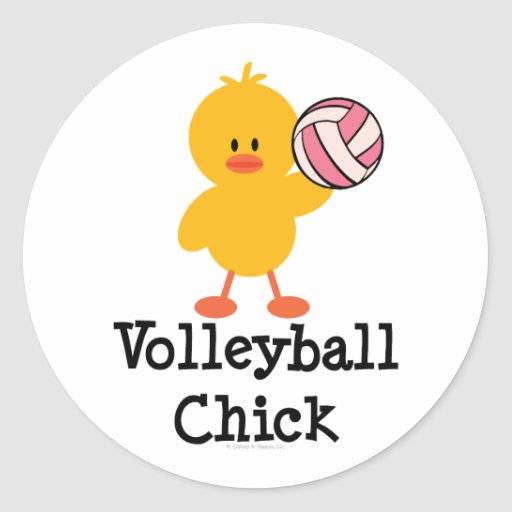 Volleyball Chick Stickers