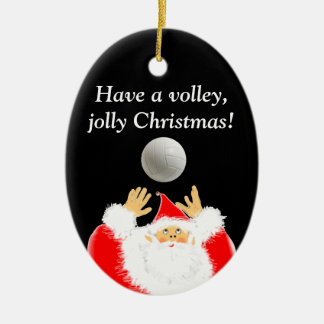 volleyball Christmas Ceramic Oval Decoration