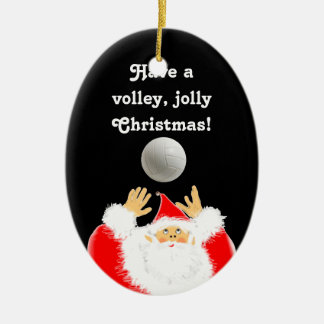 volleyball christmas christmas ornament