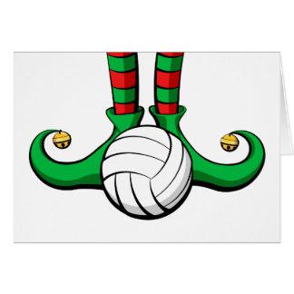 Volleyball Christmas Elf Feet Card