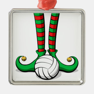 Volleyball Christmas Elf Feet Christmas Ornament