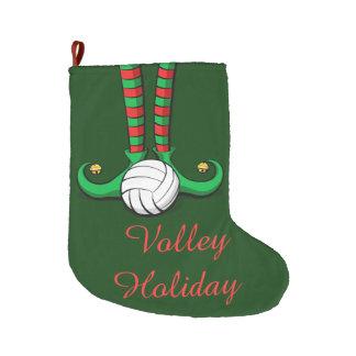 Volleyball Christmas Elf Feet Large Christmas Stocking