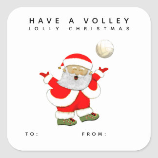 volleyball Christmas gift tags