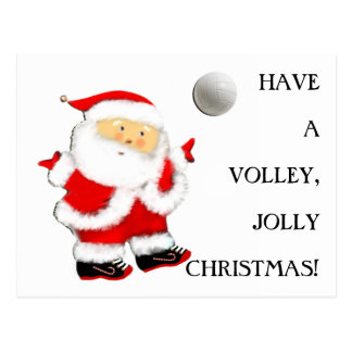 Volleyball Christmas Postcard