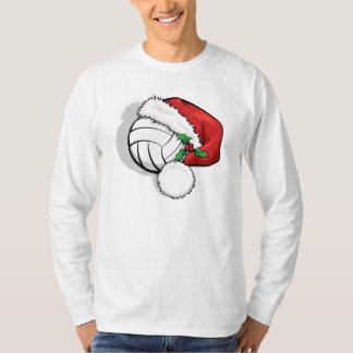 Volleyball Christmas Santa Cap T-Shirt