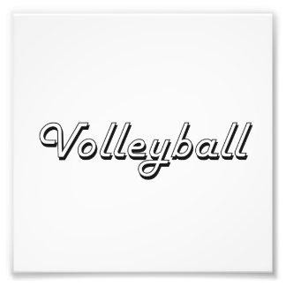 Volleyball Classic Retro Design Art Photo