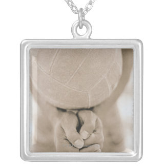 Volleyball Close-Up Silver Plated Necklace