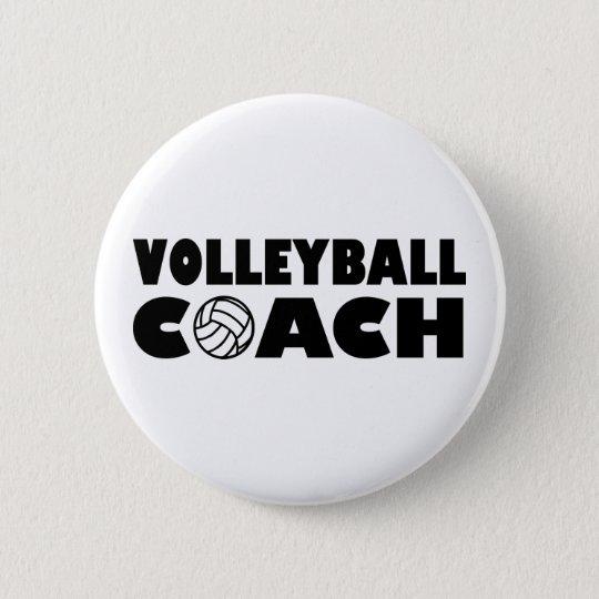 Volleyball coach 6 cm round badge