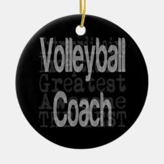 Volleyball Coach Extraordinaire Christmas Ornament