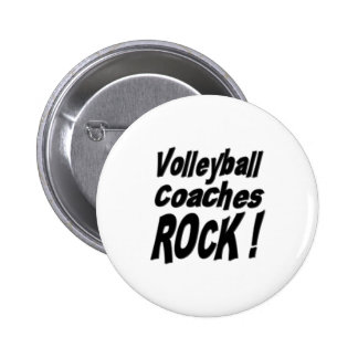 Volleyball Coaches Rock Button