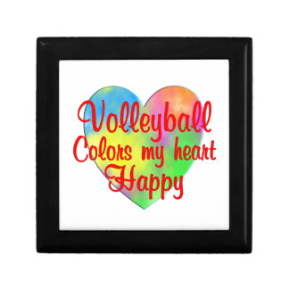 Volleyball Colors My Heart Happy Small Square Gift Box
