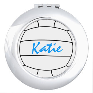 Volleyball Compact Mirror