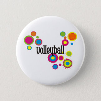 Volleyball Cool Polka Dots 6 Cm Round Badge