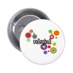 Volleyball Cool Polka Dots Buttons
