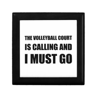 Volleyball Court Calling Must Go Small Square Gift Box