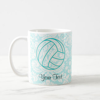 Volleyball; Cute Teal Coffee Mug