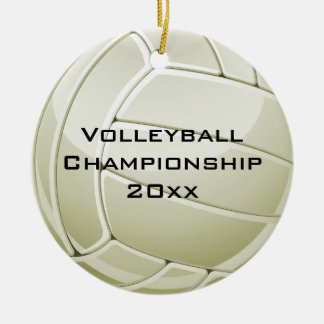 Volleyball Design Round Ornament