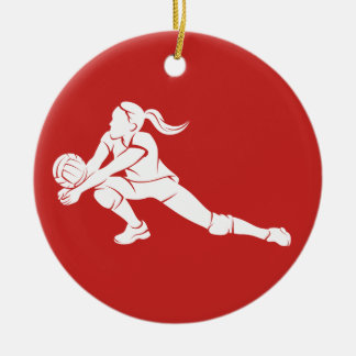 Volleyball Dig Girl Christmas Ornament