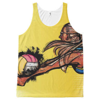 Volleyball DIGG All-Over Print Tank Top