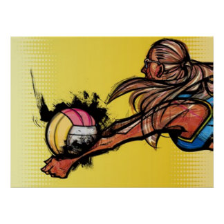 Volleyball DIGG Poster