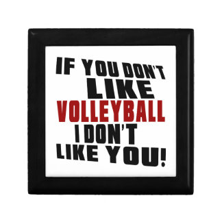 VOLLEYBALL DON'T LIKE DESIGNS SMALL SQUARE GIFT BOX